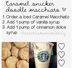 Secret Starbucks Drinks, Starbucks Secret Menu Drinks, Healthy Starbucks, Starbucks Coffee, Yummy Drinks, Yummy Food, Healthy Drinks, Healthy Eating, Cinnamon Dolce Syrup