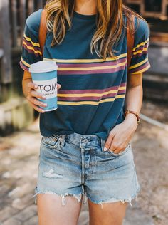 Weekend OOTD: Striped Tee & Levi's | LivvyLand
