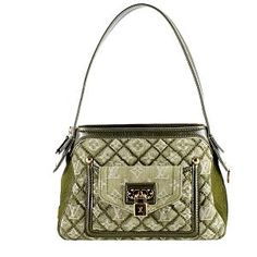 89ef3df82aab9 Louis Vuitton Limited Edition Quilted Denim Gondole Shoulder Bag