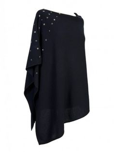 Thanks to Poncho Gallery, the Poncho is back to fashion! Bell Sleeves, Bell Sleeve Top, Black Poncho, Cashmere Poncho, Style Me, Blouse, Long Sleeve, Pretty, Beading