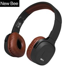 fb381a043a3 New Bee Upgraded Wireless Bluetooth Headphones Hifi Sport Headset with Case  Pedometer App Mic NFC Earphone