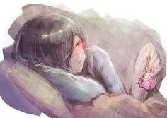 Só de lembrar do chaveiro de coelho que o Kaneki deu pra Touka já dá vontade de chorar - Touka | Tokyo Ghoul