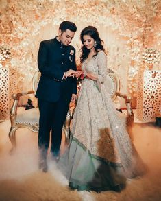 Are you planning a wedding on a budget? Dollar Tree to the rescue with these fruits - Wedding Ideas Engagement Couple Dress, Indian Engagement Outfit, Engagement Gowns, Couple Wedding Dress, Wedding Dresses Men Indian, Indian Bridal Outfits, Wedding Dresses For Girls, Punjabi Wedding, Engagement Ideas