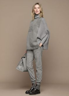 19 schicke Pullover Outfit-Ideen – Fazhion – Join in the world of pin Grey Fashion, Fashion 2020, Look Fashion, Winter Fashion, Womens Fashion, Fashion Spring, Vintage Fashion, Mode Outfits, Chic Outfits