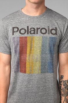 Altru Polaroid Tee - some vintage fade. Love an oversized men's tee in the summer!