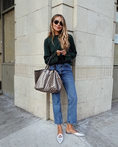 "JULIE SARIÑANA on Instagram: ""Running errands in @shop_sincerelyjules Jade sweater and Nicolette jeans! shopsincerelyjules.com"""