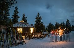 A Moveable Feast // It's not every meal that begins with a cross-country ski. Read more at doradomagazine.com.