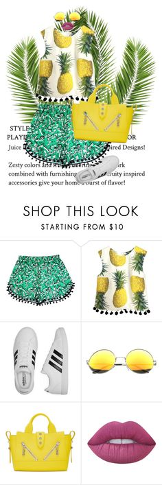 """""""Untitled #815"""" by my-life-my-worries ❤ liked on Polyvore featuring adidas, Kenzo and Lime Crime"""