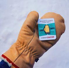 Grab your Garbos Enamel Mitten Pin Stay Warm, Enamel, Canada, Gift Ideas, Leather, Color, Vitreous Enamel, Colour, Enamels