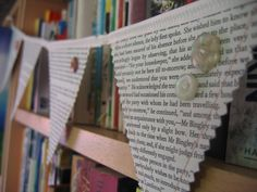 Idea for Old Books - Vintage Button Banners.