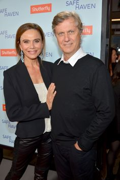 Director Lasse Hallström and wife Lena Olin at the Safe Haven Premiere