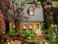 Dept 56 Easter House in Easter Village.