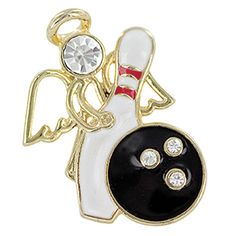 Bowling Fundraiser: Bowling Angel Pin. Every bowler should have an angel watching over them! If you're a bowler or love someone who bowls, show your support of the sport with this pin. Bowling Angel Pins make great team gifts, parents' gifts or fundraiser items.  $7.98 CAD