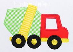 Cement Mixer Truck Machine Embroidery Design by HappytownApplique, $4.00