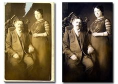 How to Restore Old, Damaged Photos by Jeff Guyer. Read more: http://digital-photography-school.com/how-to-restore-old-damaged-photos#ixzz2cwWFs7Ui