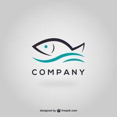 Logotipo modelo peixe Vetor grátis