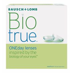 Biotrue ONEday contact lenses allow maximum moisture on the eye for incredible comfort. These lenses also retain moisture and shape better than the leading daily disposable lens.