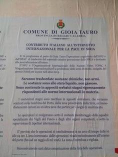 Trasbordo armi chimiche, cresce l'attesa. Sindaci mobilitati - #TrasbordoArmiChimiche #Calabria #CalabriaPage