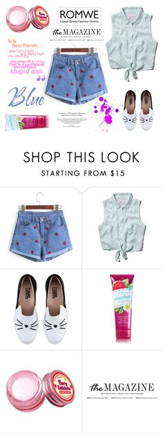 """""""Romwe shorts"""" by beenabloss ❤ liked on Polyvore featuring Abercrombie & Fitch, Karl Lagerfeld and Etude House"""