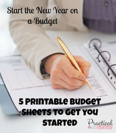 5 FREE printable budget sheets to get you started - save money and be organized!