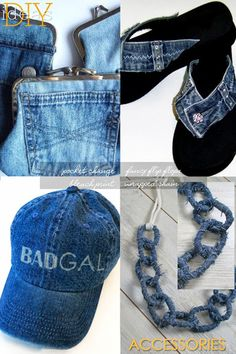 Great ideas for restyling denim for accessories, jeans, jackets | DiaryofaCreativeFanatic