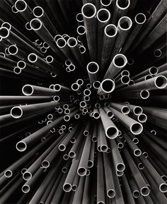© Peter Keetman, 1958, Rohre (Pipes)  Peter Keetman was one of the founder-members of the Fotoform group in 1949 with Otto Steinert and others. His preference for black and white enhanced his strong designs, often based around the effects of light on the