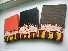 Painted Harry Potter Trio Magnets. $18.00, via Etsy.