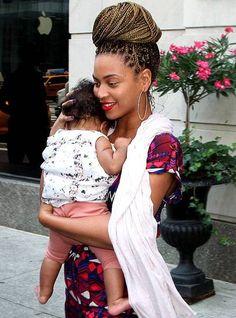 Beyoncé com a filha