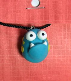 I Need Friend Pendant  Polymer Clay Monster Charm by TheHappyAcorn, $14.00