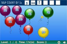 Interactive skip counting games and online activities, practice for and grade kids. Skip Counting Activities, Math Activities, Math Games, Multiplication Games, Learn Math Online, Math Websites, Second Grade Math, Grade 2, Fun Math