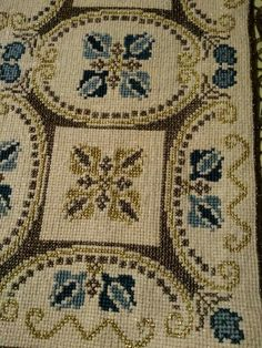 Cross Stitch Embroidery, Hand Embroidery, Cross Stitch Patterns, Embroidery Designs, Art N Craft, Headband Pattern, Hobbies And Crafts, Needlepoint, Bohemian Rug