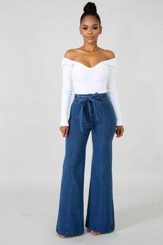 High Waist Denim Jeans | GitiOnline