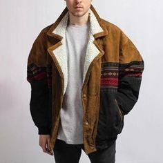 Men's fashion black hooded down jacket – Lekico Latest Fashion Clothes, Retro Fashion, Mens Fashion, Fashion Top, Style Fashion, Fashion Black, Corduroy Jacket, Cotton Jacket, Stylish Jackets