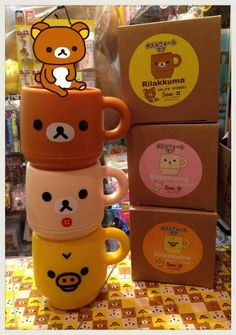 best is to stack them up!!! #Rilakkuma *o*