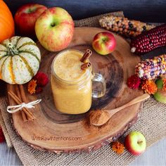 Pumpkin Apple Spice Smoothie #vegan #plantbased #cleanse #detox
