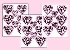 LEOPARD PRINT DECAL Heart Hot Pink Girl Wall Art Sticker Animal Print Bedroom Teen Decor Childrens Room Purple Rainbow Turquoise Blue #decampstudios