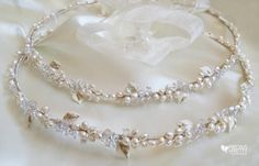 Wedding Crowns Greek Stefana Pearl Orthodox by PreciousandPrettygr