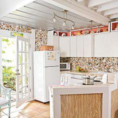 Our 50 Prettiest Island Rooms | Sea Shell Art | CoastalLiving.com (seashell backsplash - cool!)