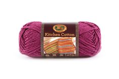 KITCHEN COTTON- GRAPE - Made in the USA, this classic worsted-weight cotton is perfect for kitchen items and bath accessories. Its bright, retro-inspired palette is ideal for stripes, ripples, and colorwork projects. The smaller size of the skeins means that you can mix and match your own color palette affordably.