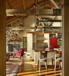 House by the lake Seaside House With Rustic Elements in Washington by Graham Baba Architects