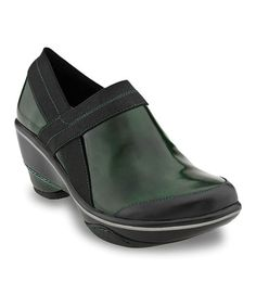 Take a look at this Hunter Green Cali Boxy Bootie by Jambu on #zulily today! $75 !!
