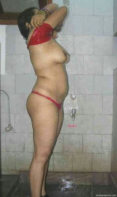 bathroom in aunty hot