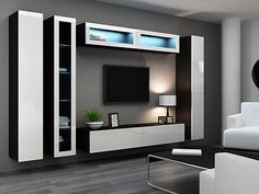 HIGH GLOSS TV CABINET / TV WALL UNIT / TV STAND 'VIVA 6' | eBay