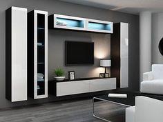 HIGH GLOSS TV CABINET / TV WALL UNIT / TV STAND 'VIVA 6'   eBay