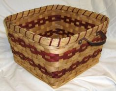 Large Knitting Basket with Different Handle Placement