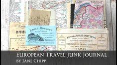 European Travel Junk Journal by Jane Chipp! - YouTube Mixed Media Journal, Mixed Media Art, Fabric Journals, Show And Tell, European Travel, Junk Journal, Vintage Images, Book Art, Envelope