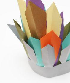 DIY kids paper headdress