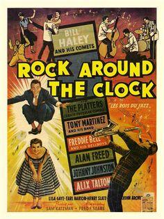 Rock Around The Clock, Bill Haley, Movie Poster Art Print Old Movie Posters, Classic Movie Posters, Concert Posters, Vintage Posters, Music Posters, Film Posters, Old Movies, Vintage Movies, Vintage Stuff