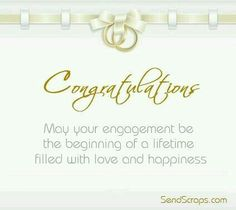 Congratulations on your engagement Congratulations on your engagement Engagement Quotes Congratulations, Engagement Greetings, Engagement Wishes, Wedding Greetings, Engagement Cards, Wedding Engagement, Anniversary Congratulations, Birthday Greetings, Birthday Wishes
