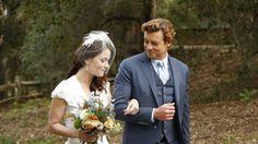 #CBS #TheMentalist S7 E12 #BrownShagCarpet & S7 E13 #WhiteOrchids -   #RobinTunney as #TheresaLisbon and #SimonBaker as #PatrickJane #WeddingDay  #SeriesFinale #Episode